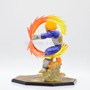 Wholesale New Design Retail Anime Dragon Ball Z Super Saiyan Vegeta Battle State Final Flash Pvc Action Figure Collectible Model Toy cm