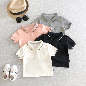 Wholesale Hot Sales Boys Summer T shirt Polo Pure Cotton Leisure Top Tees Bead Color Children Hot Fashion Children Boys Shirt
