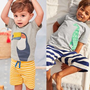 Wholesale knitted baby clothes boy for sale - Group buy Kids Clothing New Summer Baby Boys Clothes Sets Children Sport Suit Cartoon Knitting Short Sleeve T shirt Tops Short Pants Sets