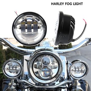 Wholesale pair 30W motorcycle fog light round 4.5inch universal fog lamp for motorcycle off-road 4x4 vehicles driving light