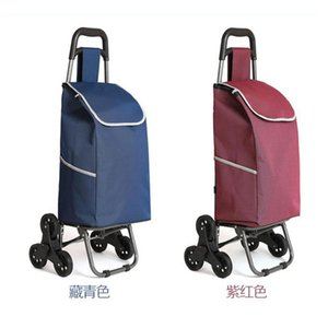 Wholesale Three wheeled folding cart lady or old shopping cart shopping hand puller trolley large capacity portable home bags