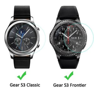 Wholesale For Samsung Gear S3 Classic SmartWatch Clear Tempered Glass Screen Protector Ultra Thin Explosion proof Protective Film