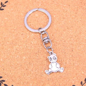 Wholesale New Fashion Keychain mm panda bear Pendants DIY Men Jewelry Car Key Chain Ring Holder Souvenir For Gift