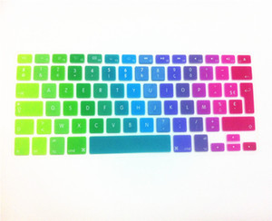 Wholesale Newest Dazzle colour EU French Soft Silicone Keyboard Protective Film for MacBook air pro retina have stock