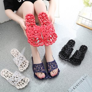 Wholesale new sandal slippers wear resistant bathroom slippers couples models indoor hollow non slip massage sandals slippers