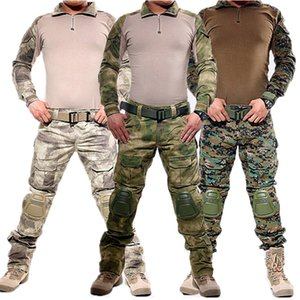 Wholesale Army Military Uniform Camouflage Tactical Combat Suit Airsoft War Game Clothing Shirt Pants Elbow Knee Pads