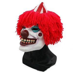 Hanzi_masks HOT Toy Free Shipping Joker Clown Costume Mask Creepy Evil Scary Halloween Clown Mask