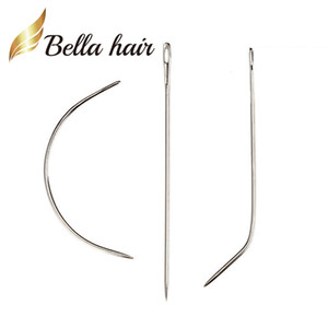 Wholesale Bella Hair® Professional Weave Needle Braids Track Sewing Hair Extension Needle C I J Shape For Wig 12pcs