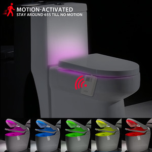 Wholesale Smart PIR Motion Sensor LED Toilet Seat Night Light Lamp Colors Waterproof Backlight For Toilet Bowl Bathroom WC Toilet Light