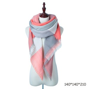 Wholesale plaid scarves women for sale - Group buy New Winter Scarf Fashion Women Scarf Plaid Cashmere Scarves Women Triangle Bandage Bufanda Accessories