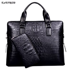 KAKINSU Men Messenger Bags Genuine Leather Bag Men Briefcase Designer Handbags High Quality Famous Brand Business Men Bag