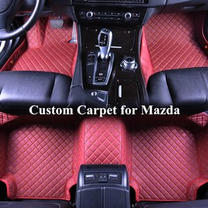 Wholesale Wholesale Custom Car Floor Mats for mazda cx-5 cx7 cx-9 mx-5 3 5 6ATENZA 3D Luxury Carpets Alfombra Coche Tapete Carro