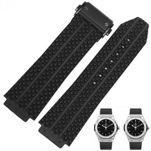 Wholesale Silicone Rubber Watch Band For HublotStrap Big Bang Watch Strap mm Silver Clasp