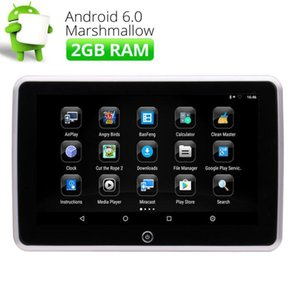 Wholesale 10 quot Quad Core Android P Touch Screen Car DVD Headrest Monitor HDMI USB SD FM Support Video WIFI Rear Seat Headrest