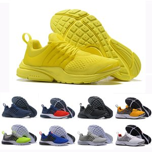 Wholesale Air Red PRESTO BR QS Breathe Yellow Triple Black White Mens prestos Shoes Sneakers Women Running Shoes Men Sports Safari Pack designer