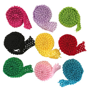 "1.5"" Crochet Elastic Tutu Waistband Headbands Band Trim Rolls by Meters For Tutu Dress Skirts"