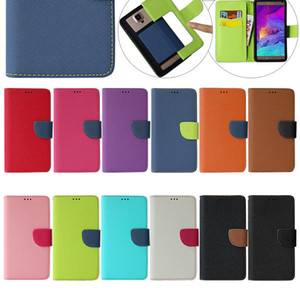 Wholesale Universal Phone Wallet Cases Fashion Grain Mobile Protect Covers Card Holder Fashion Cellphone Accessories Mix Color New