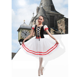 Wholesale Flames Of Paris Ballet Long Tutu Dress White Blue Red Romantic Ballet Tutu Ballerina Stage Costume For Women Or Kids
