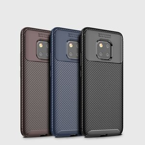 Wholesale Beetle Carbon Fiber Soft Phone Cover Anti Fingerprint TPU Case for iPhone X i8 Plus S Samsung Note8 Hauwei Mate20X