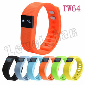 Wholesale FITBIT TW64 Smart Band Fitness Activity Tracker Wristband Bluetooth4 Waterproof Smartband Pedometer Calroie Bracelet for IOS Android