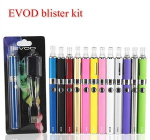 Wholesale Evod MT3 blister starter kits E cigarette kit mt3 tanks e cigarette EVOD atomizer Clearomizer Evod battery electronic cigarettes vape pen