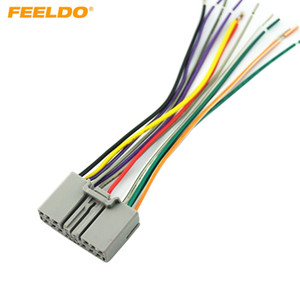 FEELDO Car Audio CD Player Radio Stereo Wiring Harness Adapter Jack For Honda Civic Fit CR-V Odyssey #1611