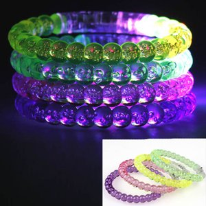 Flashing LED Party Bead Bracelet Wristband Dance Disco Bangle Light Up Cosplay Costume Accessories