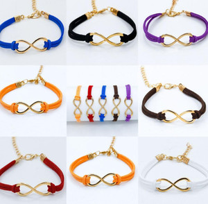Wholesale charms braclets for sale - Group buy 20pcs Vintage Gold Infinity Korean Velvet Braclets Bangles For Women Wedding Bridesmaid Wrap Charm Bracelets Gift Jewelry Accessories NEW