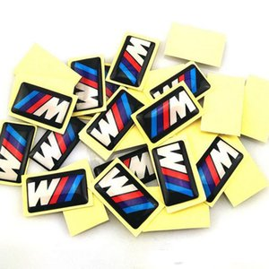M power BMW Decorative small sticker Badge Hub caps Steering wheel Emblem Sticker 18 X 10 mm