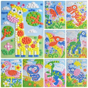 Wholesale 3D Foam Mosaic Stickers Art Puzzle Diamond Pasted Cartoon Character Toys