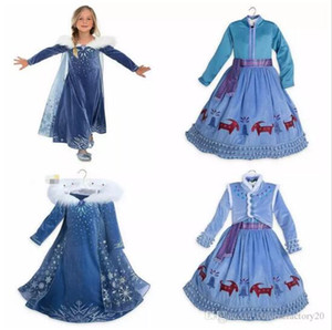 Wholesale Baby Girls Winter Tutu Dresses Christmas Party Cosplay Costume Princess Snowflake Evening Dress Cloak Tassel Dresses Open to booking A08