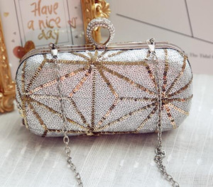 fashion brand bag woman sequined evening bag sexy nightclub wedding dress elegant hand bag all-match high-grade sequins Beaded Evening Bags