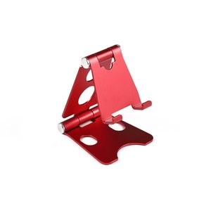 Wholesale tablet 9.7 inch resale online - Adjustable Folding Desktop Metal Cell Phone Tablet Stand Holder Portable Aluminum for Inch Devices