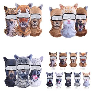 Wholesale 3D Animal mask sports headscarf mask quick dry Balaclava Snowboard Bicycle Windproof Thermal Full Face Mask styles