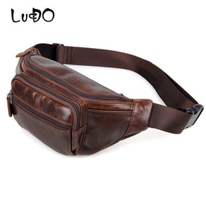 Wholesale LUCDO Bag Belt Handy Men Waist Pack Genuine Leather Fanny Pack High Quality Messenger Waist Bag Phone Pouch Mens Shoulder Bags