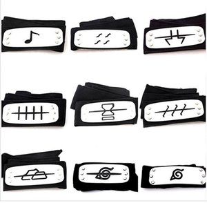 11 styles ANIME Naruto Headband Leaf Village Logo Konoha Kakashi Akatsuki Members Cosplay Costume Accessories blue red black TO792
