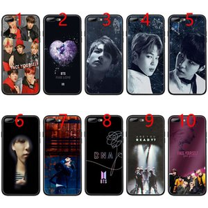Wholesale BTS Face Yourself Love Bangtan Boys Soft Black TPU Phone Case for iPhone XS Max XR s Plus s SE Cover