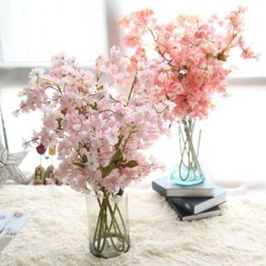 Wholesale 3pcs new Oriental cherry cane Cherry blossom high grade cherry vine rattan simulation flower wedding vivid