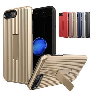 Wholesale Hybrid Armor Cases With Kickstand Luggage Cases for iPhone X XR XS MAX S Plus Dual Layer Back Cover
