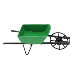 Wholesale New Garden Metal Pull Trolley Cart Deck Truck Furniture Dolls House Dollhouse Miniature Accessory Home Decoration