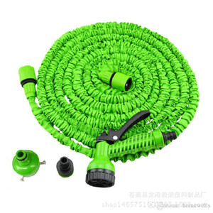 Wholesale 3X Expandable Magic Flexible Water Hose with 7in1 Spray Gun Nozzle 25FT 50FT 75FT 100FT 125FT Irrigation System Garden Hose Water Gun Pipe