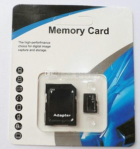 Wholesale 100% Real 8GB Micro SD Card full 8GB Memory Transflash TF SDHC Card Genuine 8GB w Adapter retail package 100pcs