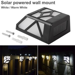 Wholesale White Warm Light Wall Mount LED Dusk to Dawn Solar Deck Accent Lights White for Home Light Outdoor Landscape Garden Home House Fence Lamp