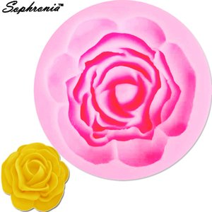 Wholesale Sophronia m573 Beauty Flower D Rose shaped Silicone Mold Cake Decoration Fondant Cake D Mold Grade cm