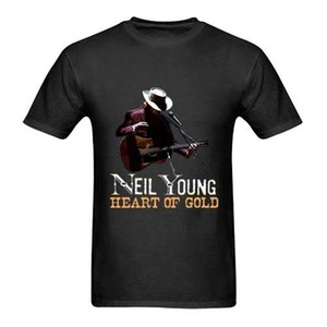 Wholesale NEIL YOUNG Heart of Gold New Men s Black T Shirt Size S to XL Short Sleeve T Shirt Fashion Fashion Design Deadpool