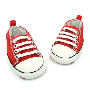 Wholesale Children Kids Baby Infant Toddler Casual Shoes Breathable Fashion Anti-slip Canvas Shoes Soft Bottom Boys Girls Lace-Up Shoes