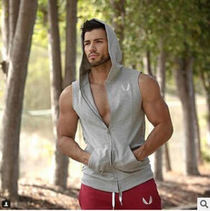Summer Newest Brand Casual Mens Print Gyms Stringers Vest Bodybuilding Clothing Fitness Man Hooded Tanks Tops With Training