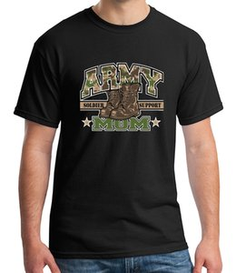 Camo Army MOM Boots Adult's T-shirt Soldier Support Tee for Men - 1483CShort Sleeve Mens Formal Shirts