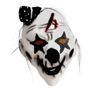 Wholesale Halloween Clown Mask Decorative Ghost Latex Festival Demon Funny Horror Room Escape Prop Clown Mask for Adults
