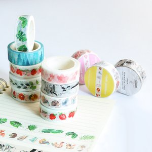 Wholesale Decorative Paper Tape Plant Flower Masking Tapes for Diary Album Scrapbooking Adhesive Sticker decoration Stationery